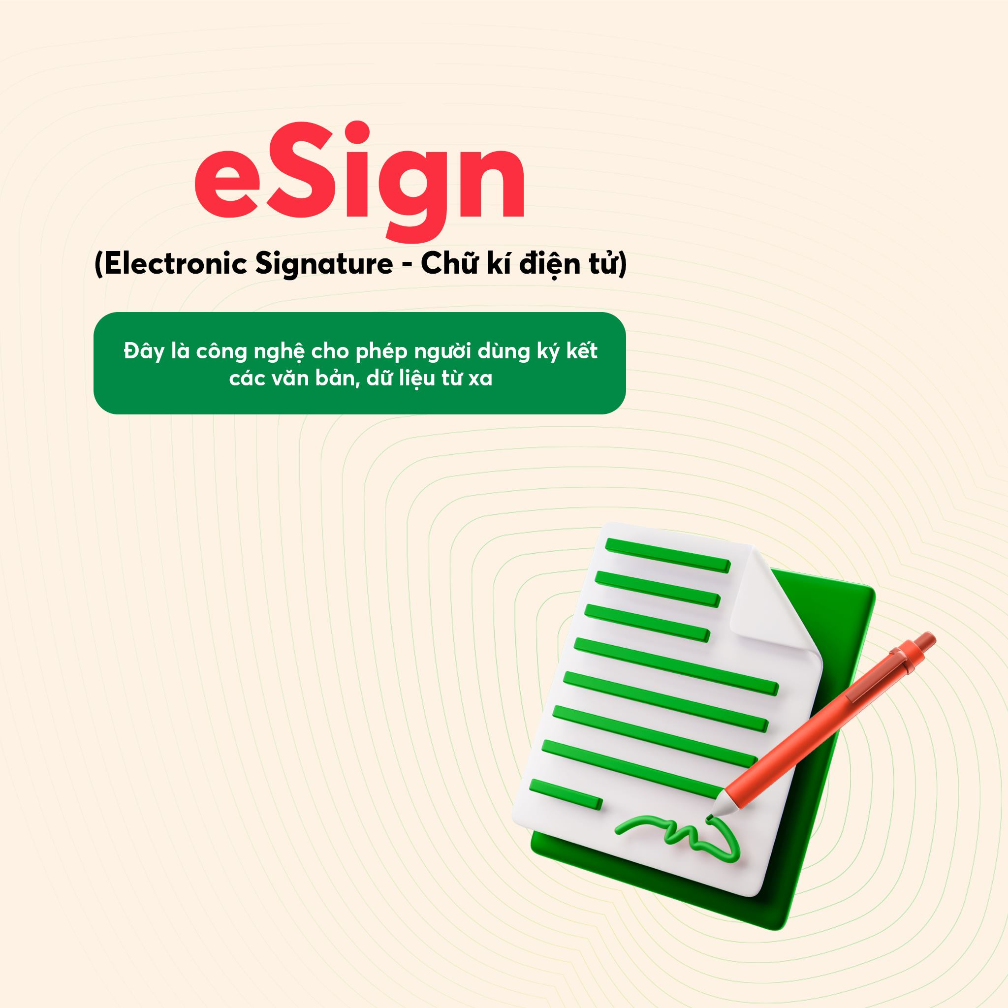eSign Chữ kí điện tử