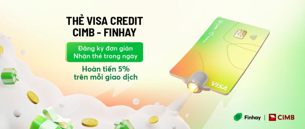 Ra mắt thẻ Visa Credit CIMB - Finhay